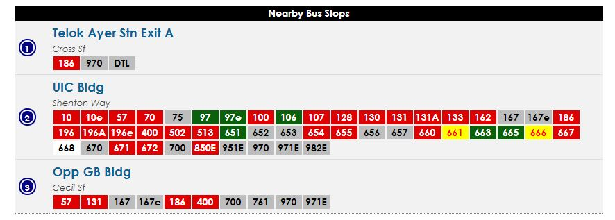 bus to cecil street. Find bus services to Amoy Street.